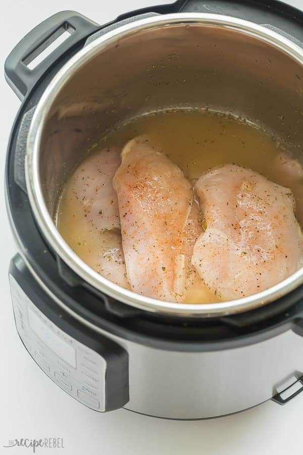 instant pot chicken breast before cooking