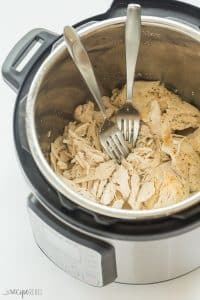 This Instant Pot Shredded Chicken is perfectly moist, perfectly seasoned, and it freezes perfectly for your weekly meal prep! The easy way to cook Instant Pot chicken breast for shredding, from fresh or frozen! It's a healthy addition to soups, salads, pastas or sandwiches throughout the week. #chicken #dinner #recipes #instantpot #pressurecooker