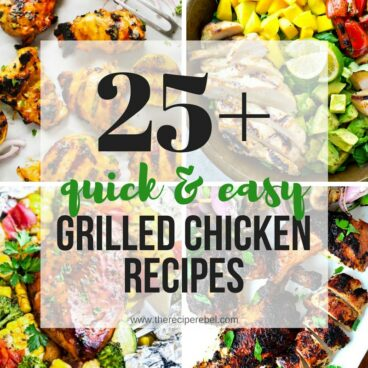 The ultimate list of grilled chicken recipes! Sweet, spicy, BBQ grilled chicken, and even chicken foil packets for the grill or oven! So many ways to change up your grilled chicken breast this summer!