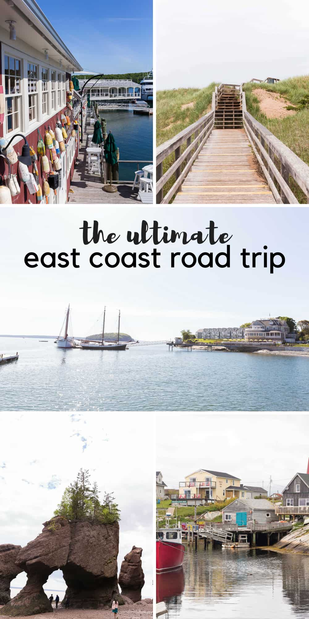 How to plan an East Coast Road Trip with kids! Where we went, what we did well, and what we would change. Plus our favorite road trip snacks and and the best road trip activities! Including: Halifax, Nova Scotia; PEI; Hopewell Rocks; Bar Harbor, Maine; Ogunquit, Maine; Brownsville, Vermont. #barharbor #maine #east #eastcoast #roadtrip #travel #travelling #travellingwithkids