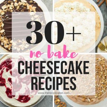 no bake cheesecake collage