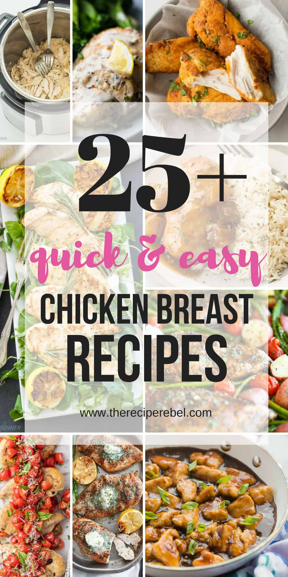 chicken breast recipes collage pin