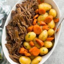 instant pot pot roast overhead