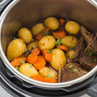 Instant Pot Pot Roast Recipe (pressure cooker pot roast) + VIDEO