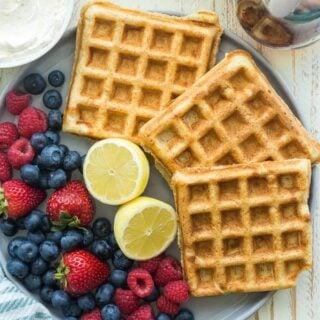 Ricotta Waffles Recipe + VIDEO