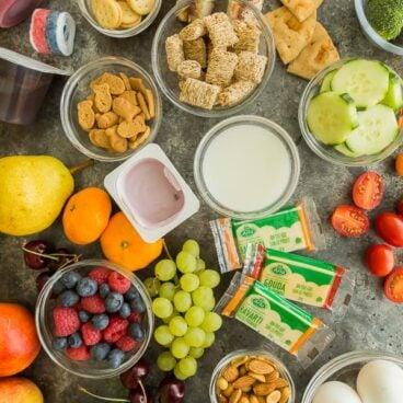 school lunch ideas overhead