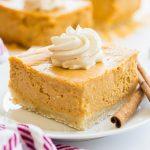 pumpkin cheesecake bar slice