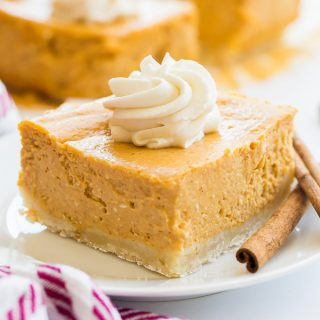 pumpkin cheesecake bar slice