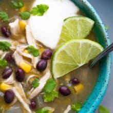 instant pot chicken chile verde soup