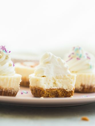 cheesecake cupcakes with a bite