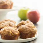 cinnamon apple muffins up close