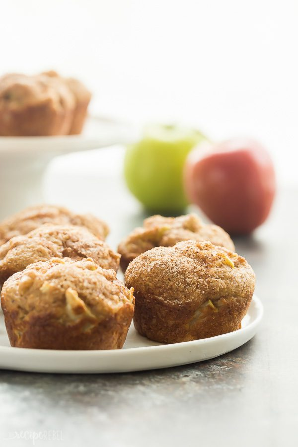 cinnamon apple muffins up close