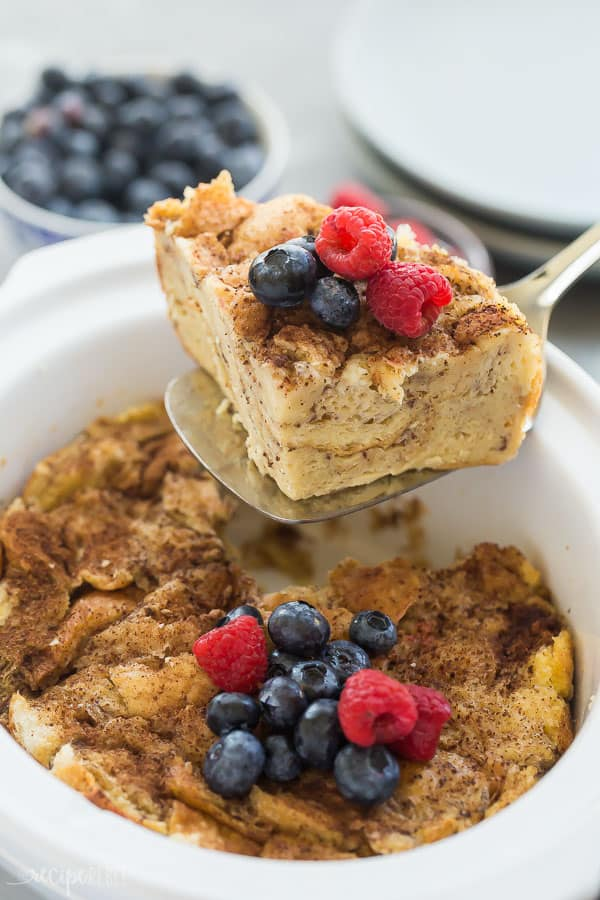 slice of crockpot french toast