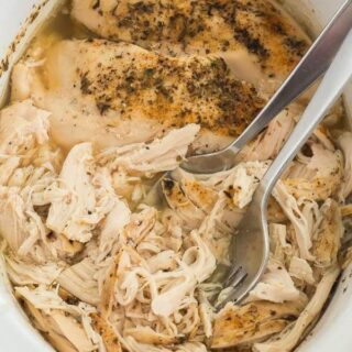 crockpot shredded chicken pulled chicken