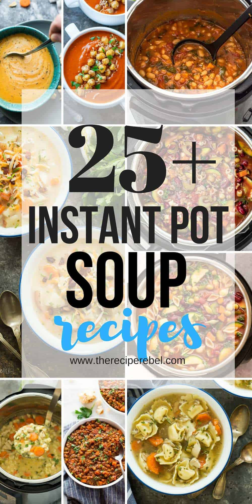 instant pot soup recipes collage