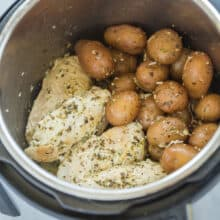instant pot chicken and potatoes in pressure cooker