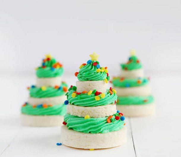 christmas cookie stacks