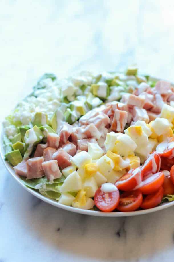 leftover ham cobb salad