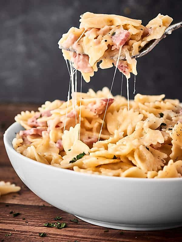 one pot leftover ham pasta
