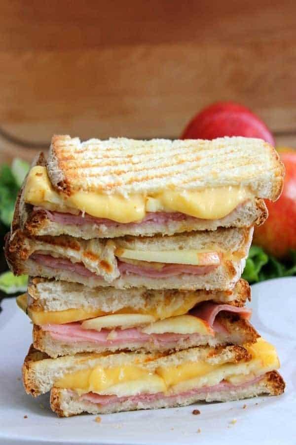 leftover ham panini