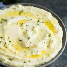 cream cheese mashed potatoes with butter