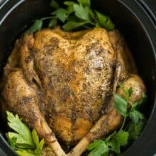 crockpot turkey in slow cooker