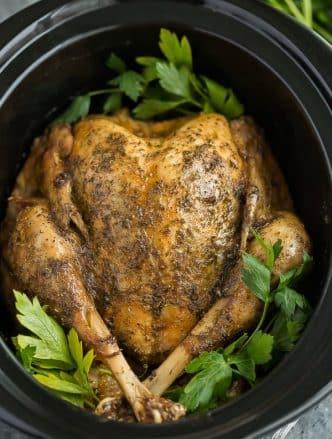 crockpot turkey in slow cooker