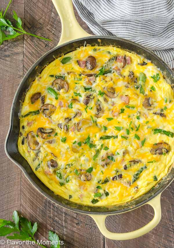 leftover ham asparagus mushroom frittata