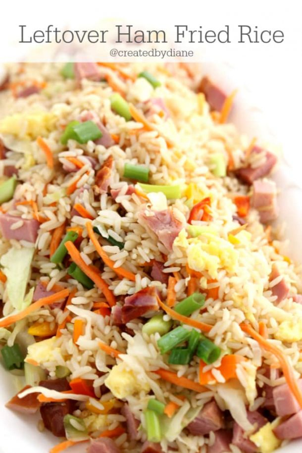 leftover ham fried rice