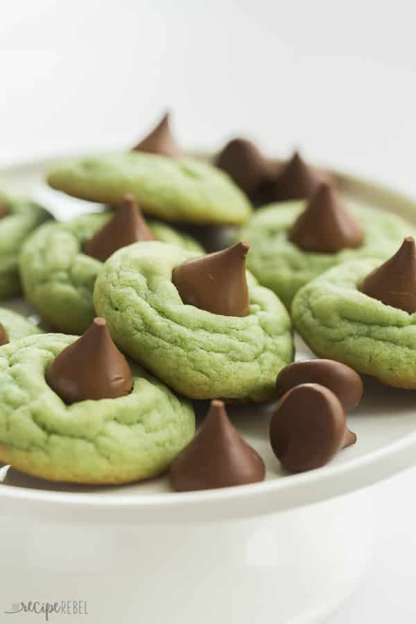 Mint Hershey Kiss Cookies