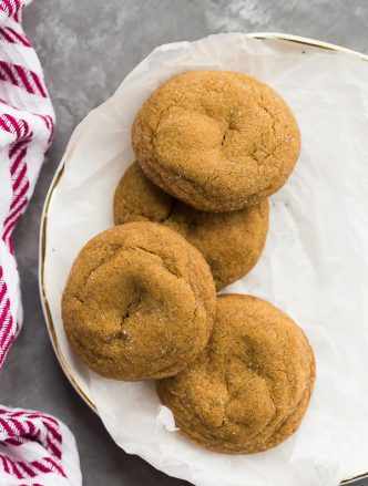 molasses cookies overhead