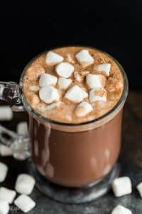 crockpot hot chocolate in mug
