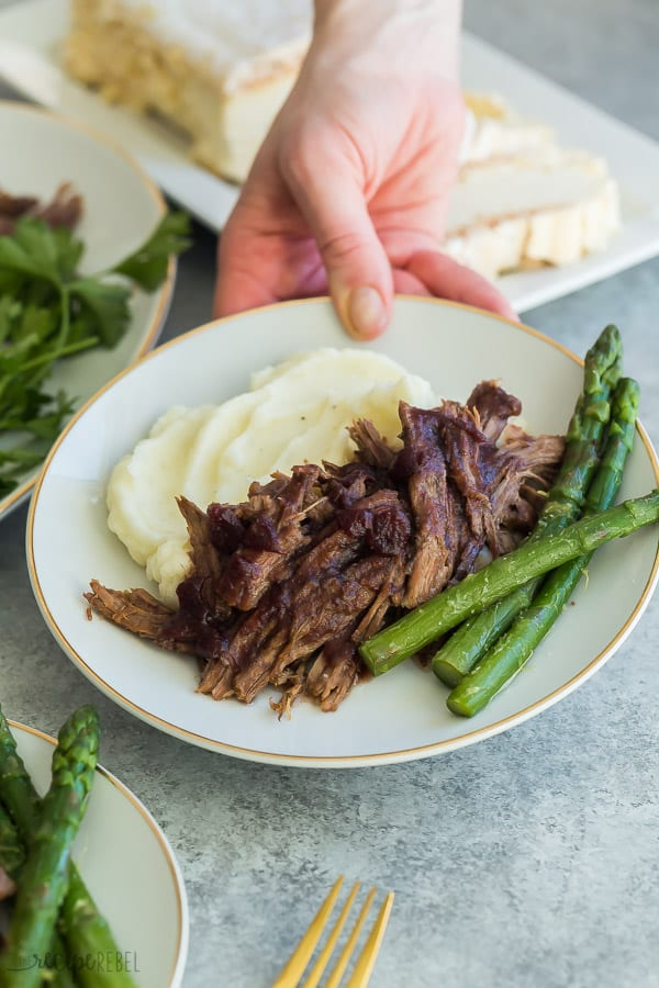 instant pot roast beef with asparagus