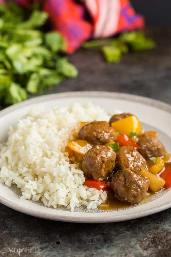 crockpot meatballs with sweet and sour sauce