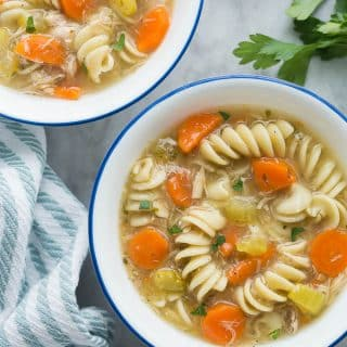 Turkey Noodle Soup (Instant Pot or Slow Cooker)