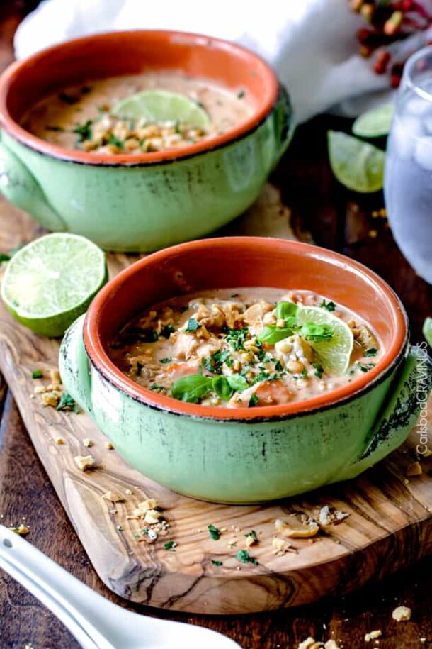 slow cooker thai coconut wild rice soup