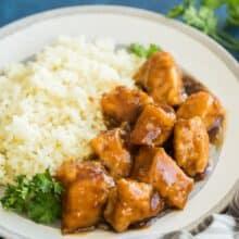 crockpot orange chicken with rice