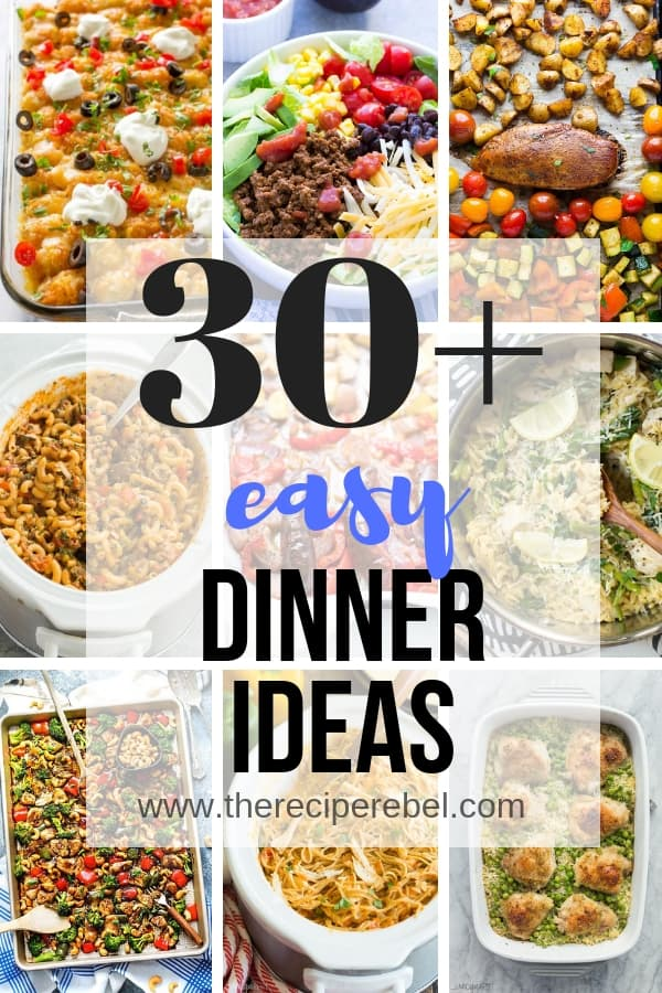 easy dinner ideas collage short