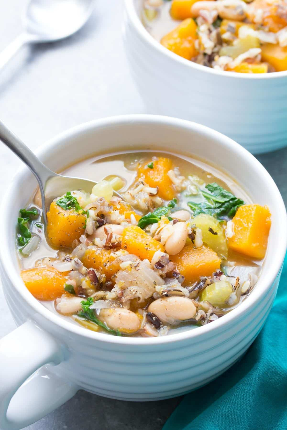wild rice vegetable crockpot soup