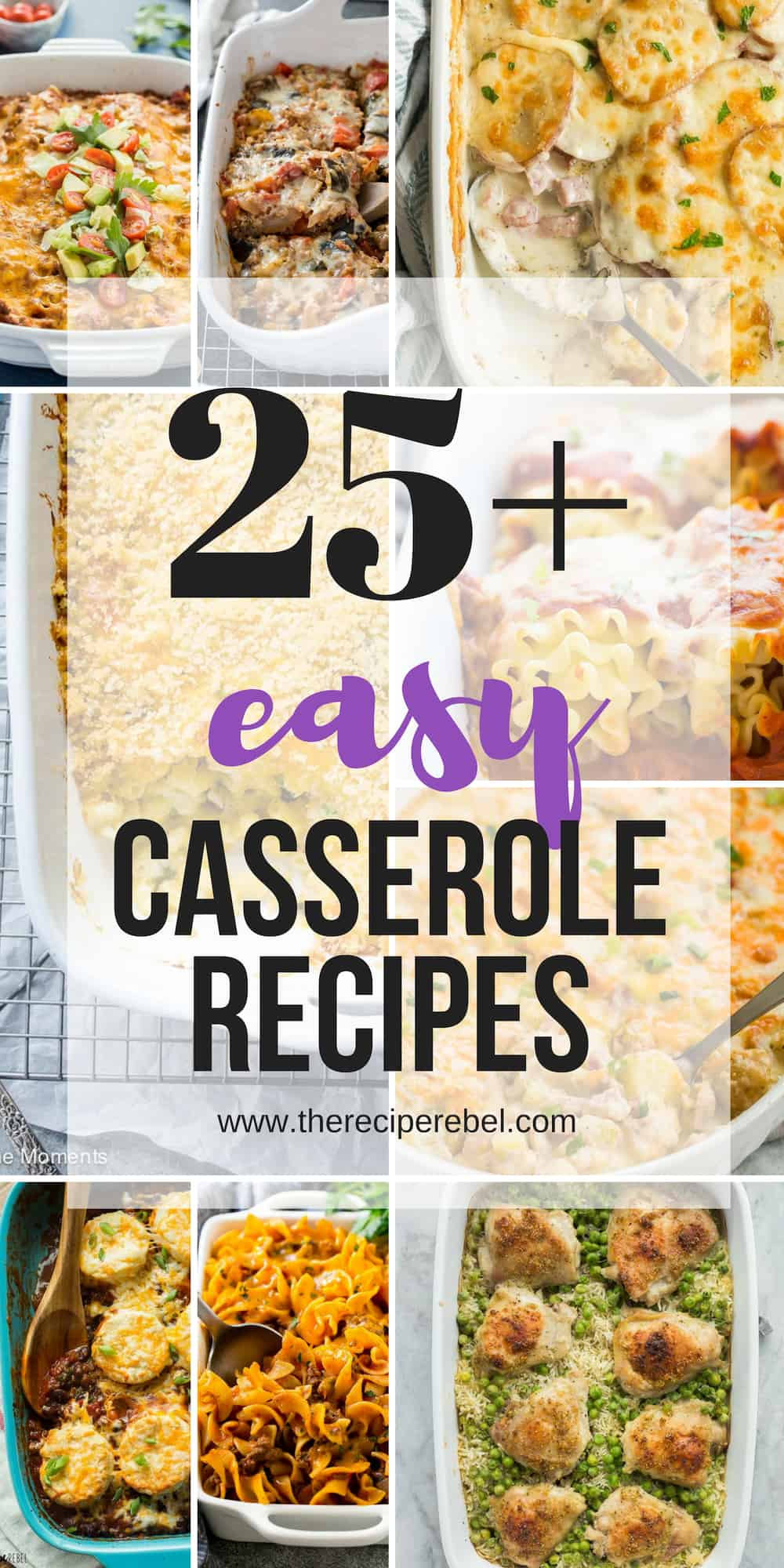 easy casserole recipes collage