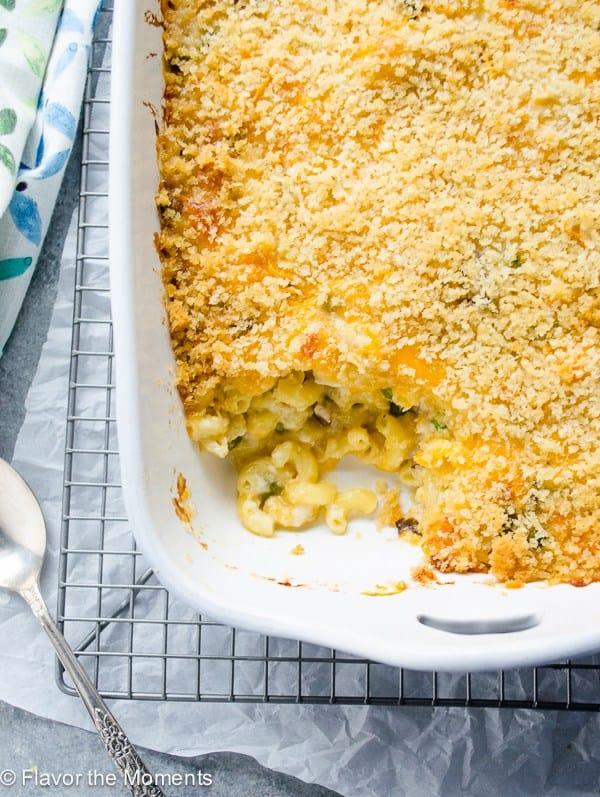 overnight mac and cheese casserole