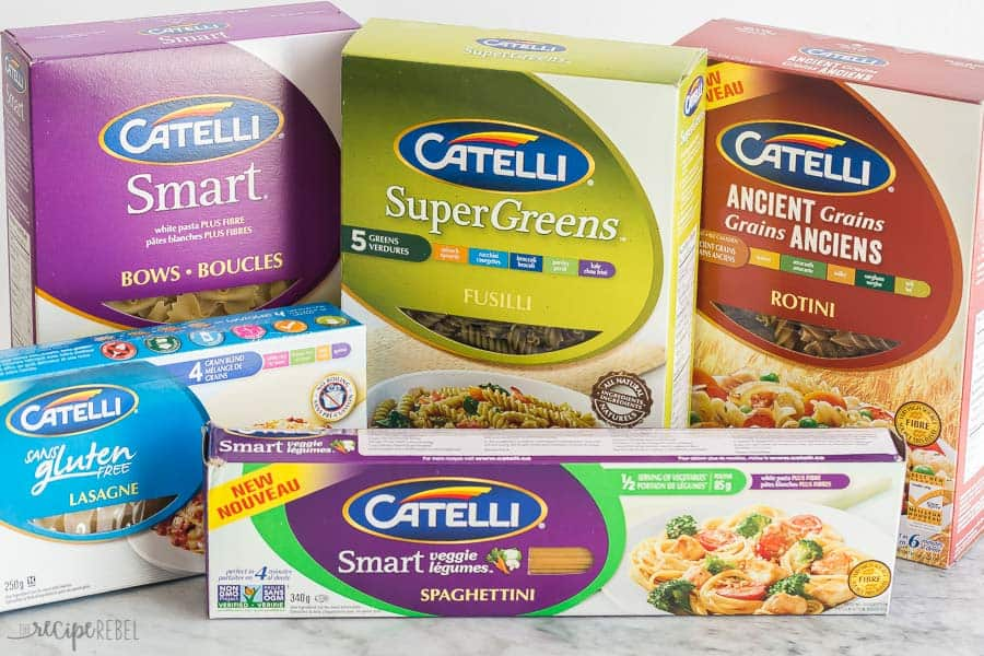 catelli pasta boxes