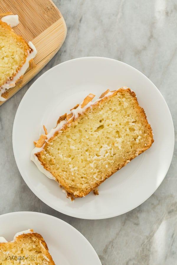 slice of coconut bread