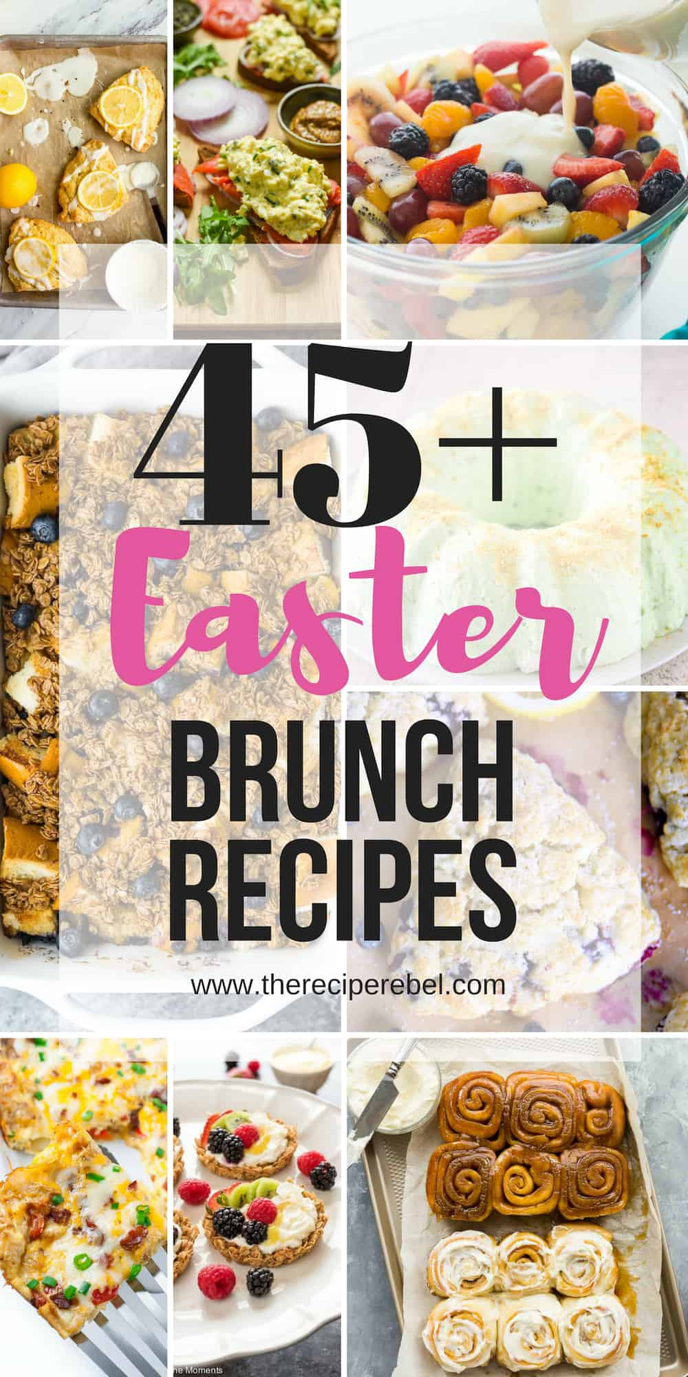 easter brunch ideas collage long