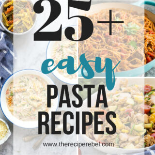 easy pasta recipes collage