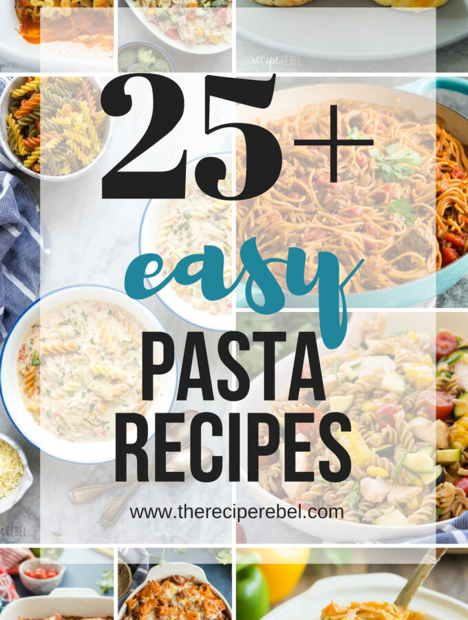 easy pasta recipes collage