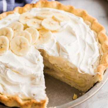 banana cream pie piece missing
