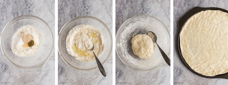 easy pizza dough step by step photos
