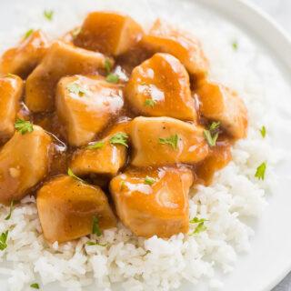 instant pot chicken with honey garlic sauce