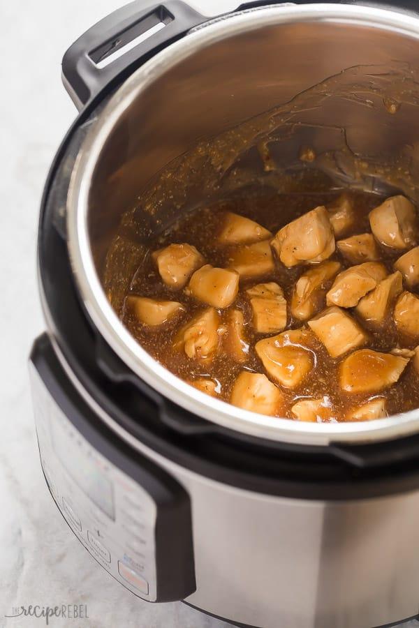 instant pot honey garlic chicken in pressure cooker